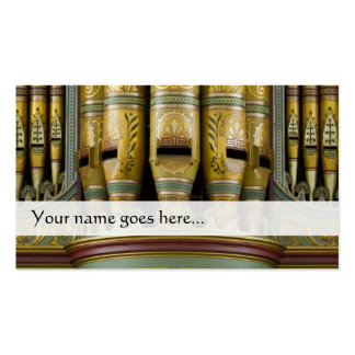 Orgelpfeife-Visitenkarte - verzierte Rohre Visitenkarten