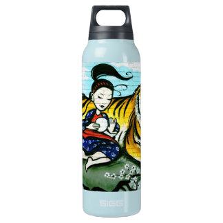 Orientale- und Tiger-Graffiti-Thermalflasche Isolierte Flasche