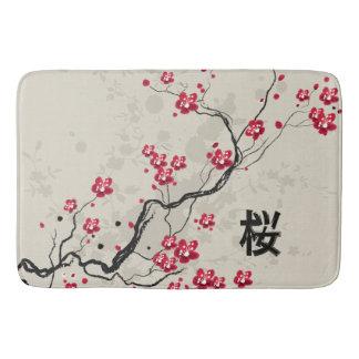 Orientalische Art-Kirschblüte-Kirschblüten-Kunst Badematte