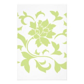 Orientalische Blume - Daiquiri-Grün Briefpapier