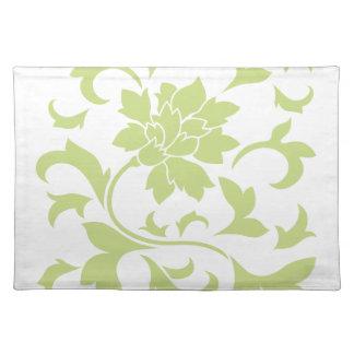 Orientalische Blume - Daiquiri-Grün Tischset