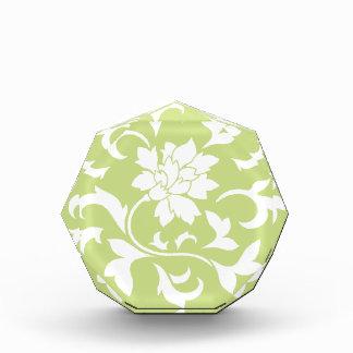 Orientalische Blume - Daiquiri-grünes Kreismuster Acryl Auszeichnung