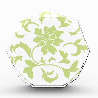 Orientalische Blume - Daiquiri-grünes Kreismuster Auszeichnung
