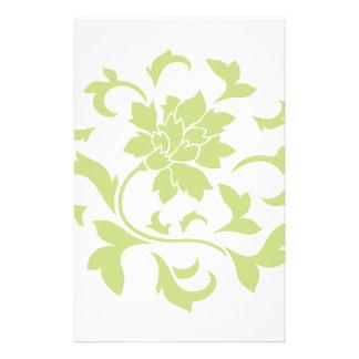 Orientalische Blume - Daiquiri-grünes Kreismuster Briefpapier