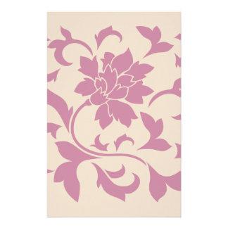 Orientalische Blume - Erdbeere Latte Briefpapier