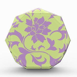 Orientalische Blume - Flieder-u. Daiquiri-Grün Auszeichnung