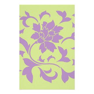 Orientalische Blume - Flieder-u. Daiquiri-Grün Briefpapier