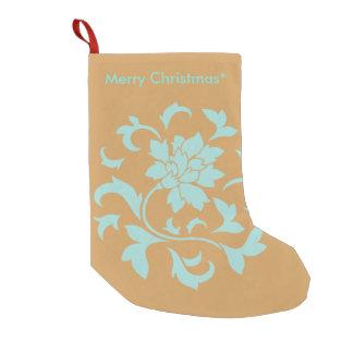 Orientalische Blume - frohe Weihnachten - Gelb Kleiner Weihnachtsstrumpf