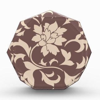 Orientalische Blume - Kaffee Latte Schokolade Acryl Auszeichnung