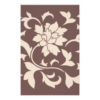 Orientalische Blume - Kaffee Latte Schokolade Briefpapier