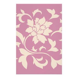 Orientalische Blume - Kaffee Latte u. Erdbeere Briefpapier