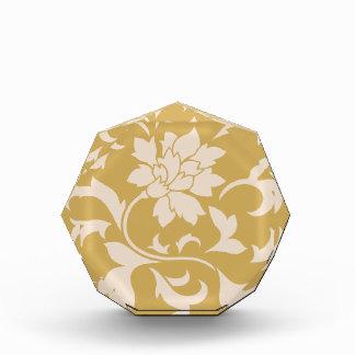 Orientalische Blume - Kaffee Latte u. würziger Acryl Auszeichnung