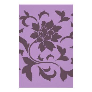 Orientalische Blume - Kirschschokolade u. -flieder Briefpapier