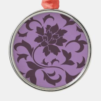 Orientalische Blume - Kirschschokolade u. -flieder Silbernes Ornament