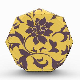 Orientalische Blume - Kirschschokolade u. -senf Acryl Auszeichnung
