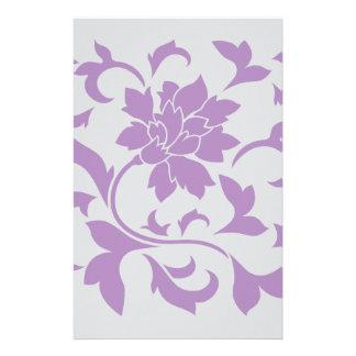 Orientalische Blume - lila Silber Briefpapier