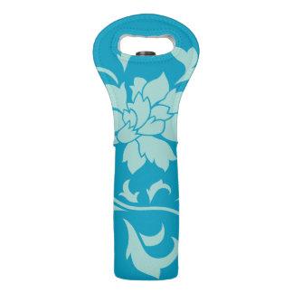 Orientalische Blume - Limpet-Muschel - Blau Weintasche