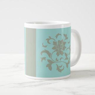 Orientalische Blume - Limpet-Muschel - olivgrünes Jumbo-Tasse