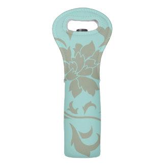 Orientalische Blume - Limpet-Muschel - olivgrünes Weintasche