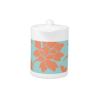 Orientalische Blume - Limpet-Muschel - Orange