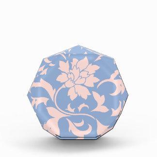 Orientalische Blume - Rosen-Quarz u. Serenity-Blau Auszeichnung