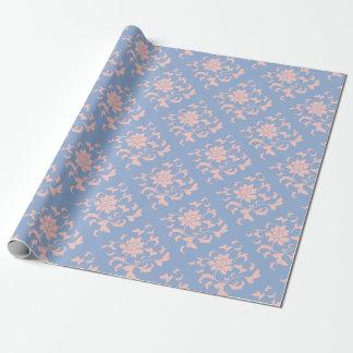 Orientalische Blume - Rosen-Quarz u. Serenity-Blau Geschenkpapier