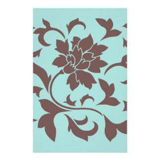 Orientalische Blume - Schokoladelimpet-Muschel Briefpapier