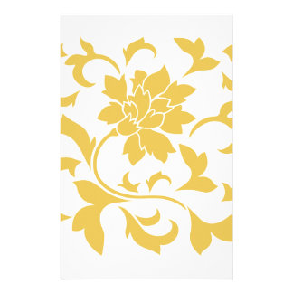Orientalische Blume - Senf-Gelb Briefpapier
