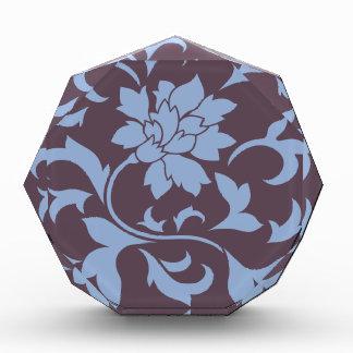 Orientalische Blume - Serenity-Blau u. Acryl Auszeichnung