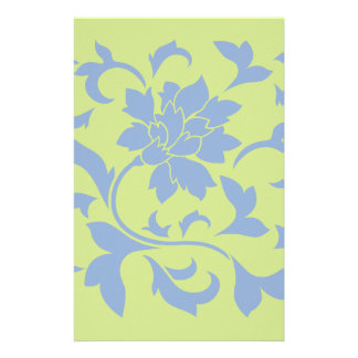 Orientalische Blume - Serenity-Blau u. Briefpapier