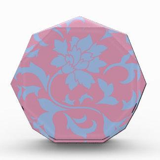 Orientalische Blume - Serenity-Blau u. Erdbeere Acryl Auszeichnung