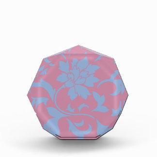 Orientalische Blume - Serenity-Blau u. Erdbeere Auszeichnung
