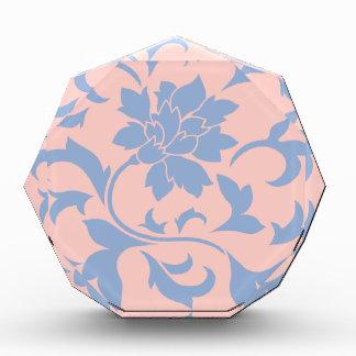 Orientalische Blume - Serenity-Blau-u. Rosen-Quarz Auszeichnung