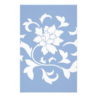 Orientalische Blume - Serenity-blaues Kreismuster Briefpapier