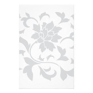 Orientalische Blume - Silber Briefpapier