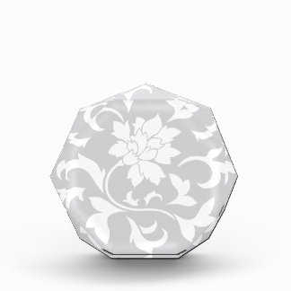 Orientalische Blume - silbernes Kreismuster Acryl Auszeichnung