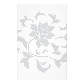 Orientalische Blume - silbernes Kreismuster Briefpapier