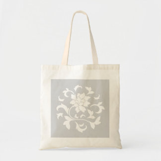 Orientalische Blume - silbernes Kreismuster Tragetasche