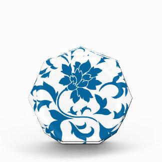 Orientalische Blume - Snorkel-Blau Acryl Auszeichnung