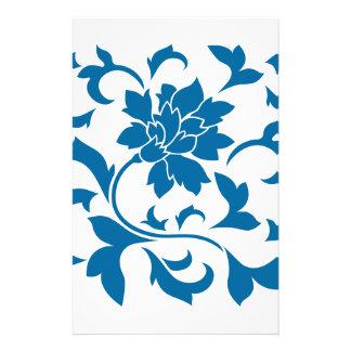 Orientalische Blume - Snorkel-Blau Briefpapier