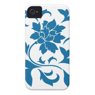 Orientalische Blume - Snorkel-Blau iPhone 4 Hüllen