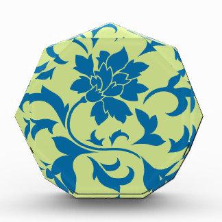 Orientalische Blume - Snorkel-Blau u. Auszeichnung