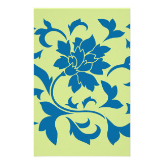 Orientalische Blume - Snorkel-Blau u. Briefpapier