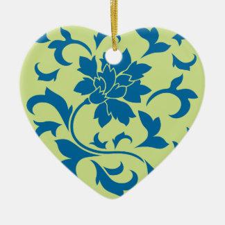 Orientalische Blume - Snorkel-Blau u. Keramik Ornament
