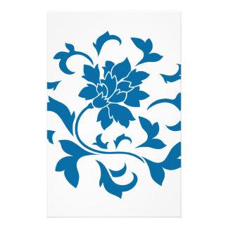 Orientalische Blume - Snorkel-blaues Kreismuster Briefpapier