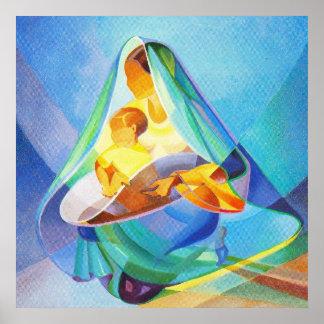 Orientalische Geburt Christisszene, Mary mit Poster
