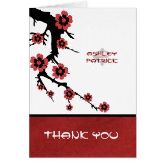 Orientalische Kirschblüte danken Ihnen Hochzeit Karte