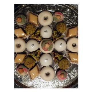 Orientalische Kuchen Postkarte
