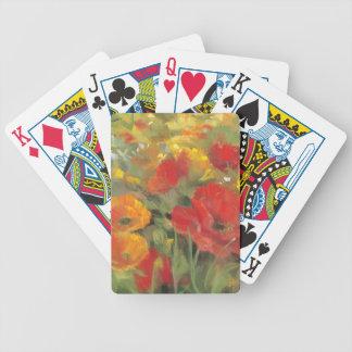 Orientalische Mohnblumen-Feld Bicycle Spielkarten