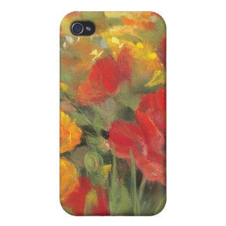 Orientalische Mohnblumen-Feld iPhone 4 Hülle